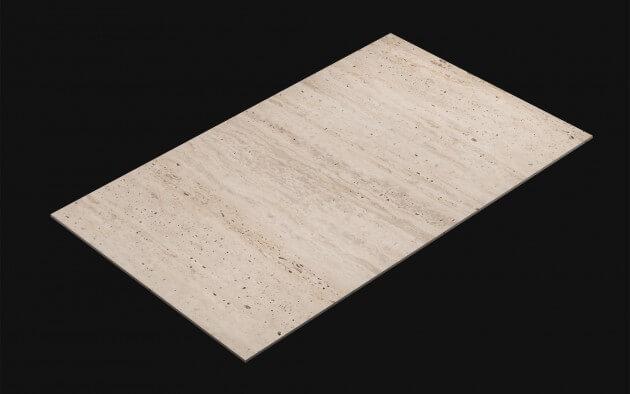 resimdo CO-AB-NS806 Light Travertine Selbstklebefolie weiß für Böden und Wände Kachel