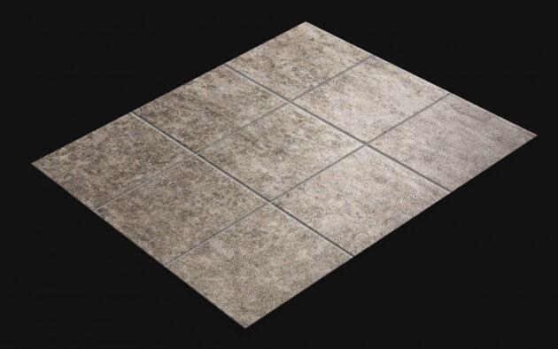 resimdo CO-AB-NS407 Grey Rustic Stone Fliesenfolien Grau für Klofliesen, Badfliesen Fliesen