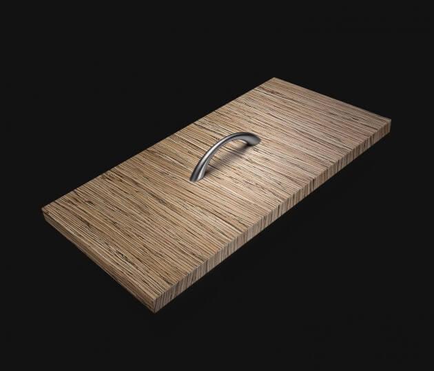 resimdo CO-WO-DW702 Beige Collection Wood Möbelfolie Beige für Schrankwände, Küchenmöbel Schublade