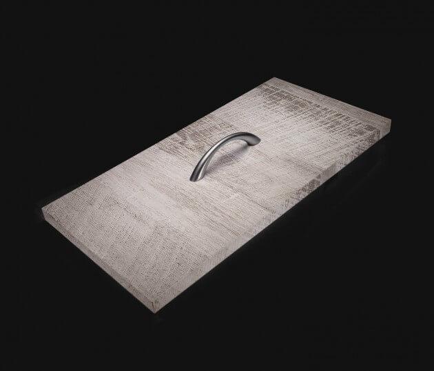 resimdo CO-WO-DW802 Grey Vintage Wood Möbelfolie grau in Vintage Holz für Kommoden, Sideboards, Schränke, Schublade