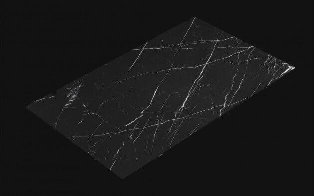 resimdo CO-AB-NS804 Cmarquina Pale Klebefolie schwarz für Arbeitsplatten und Ablagen Kachel