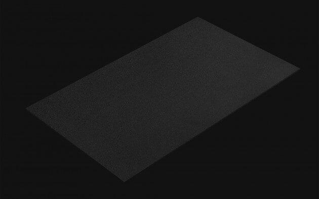 resimdo CO-BA-S140 Rough Dark Black Klebefolie Schwarz Matt für Schränke, Wände und Türen Kachel