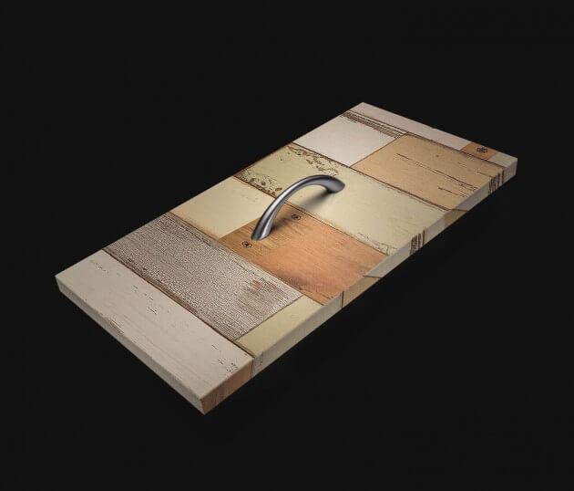 resimdo CO-WO-DW406 Scrap Wood Möbelfolie Grün für Schränke, Kommoden und Sideboards Schublade