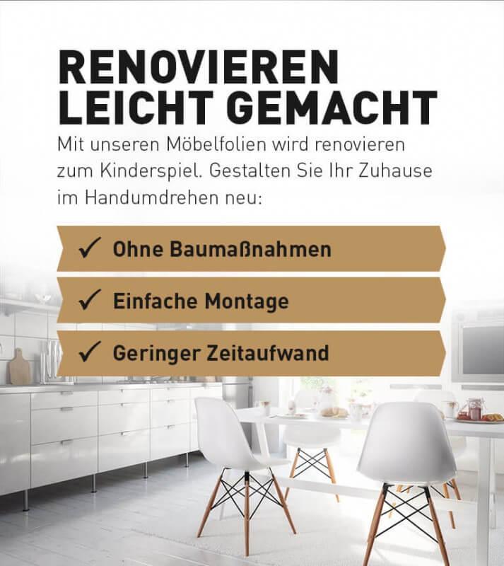 Möbelfolie - Möbel folieren | resimdo.de