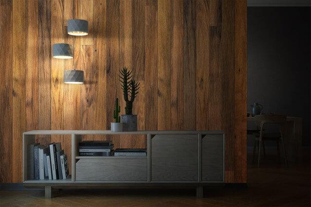 resimdo CO-WO-DW710 Bright Hardwood Pannel Klebefolie Hellbraun für Schreibtische, Tische, Ablageflächen Beleuchtung