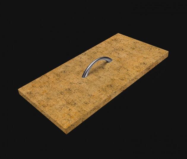 resimdo CO-AB-APZ05 Gold Crack Möbelfolie gold für Schlafzimmerschränke, Nachtkästchen Schublade