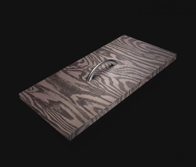 resimdo CO-WO-DW709 Dark Larch Möeblfolie Dunkelbraun für Küchenmöbel, Schränke, Tische Schublade