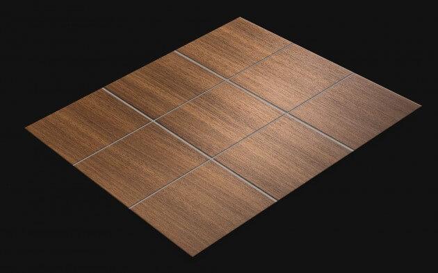 resimdo CO-WO-W206 Middle Brown Walnut Fliesenaufkleber selbstklebend dunkelbraun für Böden, Badezimmerfliesen, Wände, Küchenfliesen Fliese
