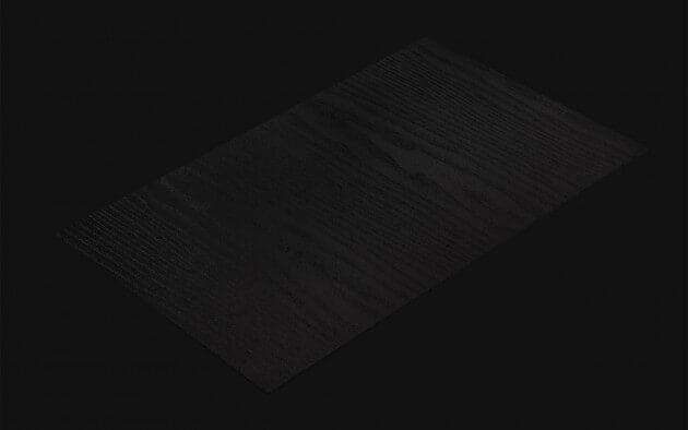 resimdo CO-BA-LS106 Classic Black Wood Klebefolie Schwarz für Türen, Treppen, Küchen, Möbel Kachel
