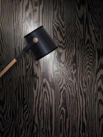 resimdo CO-WO-DW709 Dark Larch Wandfolie Dunkelbraun für Trennwände, Schrankwände Beleuchtung