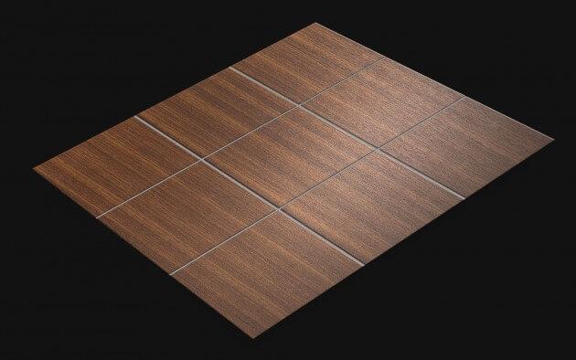 resimdo CO-WO-W260 Dark Brown Walnut Fliesenaufkleber dunkelbraun für Bodenfliesen Küchenfliese Fliese
