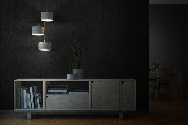 resimdo CO-BA-LS103 Hard Black Wood Wandfolie Schwarz für Trennwände, Rückwände, Wände, Beleuchtung