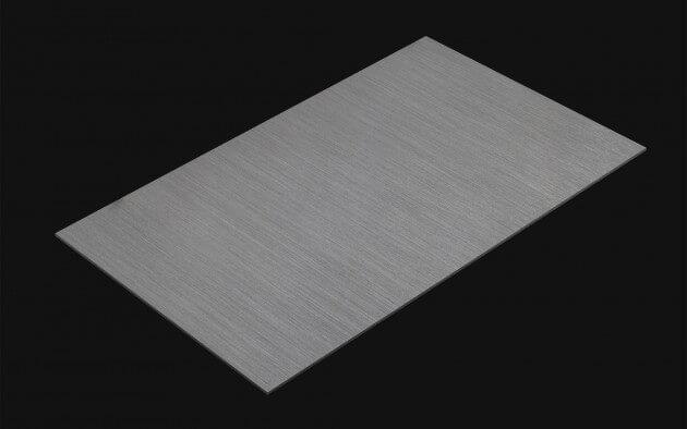 resimdo CO-BA-RM005 Brushed Silver-Grey Metallfolie grau, silber für Aufzüge, Treppen, Türen, Kachel