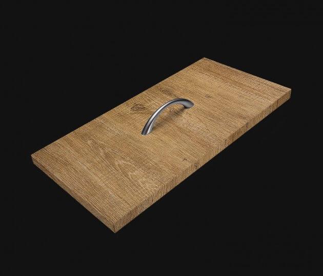resimdo CO-WO-PZ806 Light Brush Oak Möbelfolie hellbraun für Couchtische, Schlafzimmerschrank Schublade