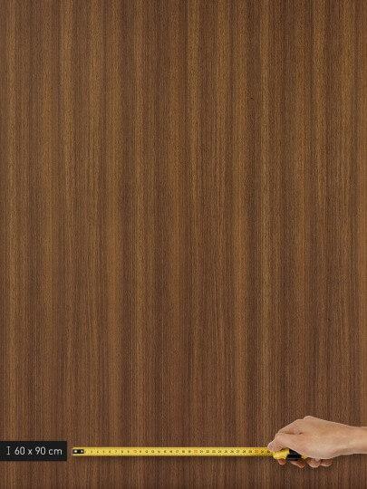 resimdo CO-WO-W206 Middle Brown Walnut Selbstklebende Küchenfolie dunkelbraun für Küchenschränke, Arbeitsplatten, Platte groß