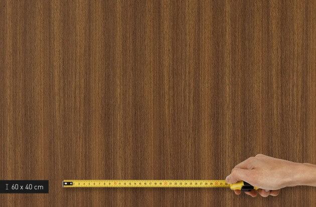 resimdo CO-WO-W206 Middle Brown Walnut Schrankfolie dunkelbraun für Einbauschränke, Schuhschrank, Küchenschränke Platte klein