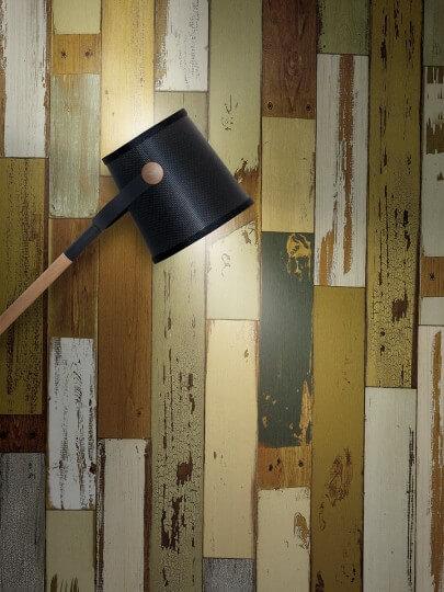 resimdo CO-WO-DW406 Scrap Wood Folie selbstklebend Grün für Wände, Türen und Zargen Beleuchtung