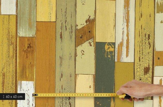 resimdo CO-WO-DW406 Scrap Wood Dekorfolie Grün für Schränke, Möbel und Wände Platte klein