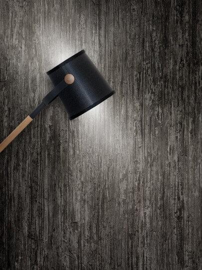 resimdo CO-WO-DW202 Grey Concrete Wood Wandfolie Grau für Wände Bürowände und Trennwände Beleuchtung