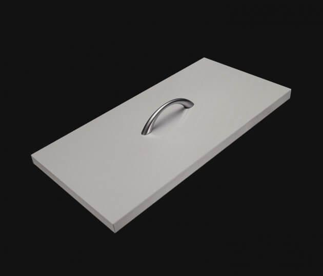 resimdo CO-BA-S209 Mouse Grey Möbelfolie hellgrau für Wohnzimmermöbel, Sideboards und Kommoden Schublade