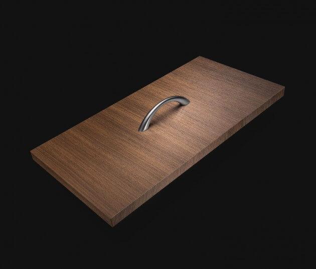 resimdo CO-WO-W206 Middle Brown Walnut Möbelfolie dunkelbraun für Küchenschränke, Tisch, Regale und Schränke Schublade