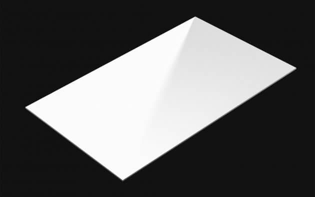 resimdo CO-BA-HS204 Shiny White Gloss Selbstklebende Folie Weiß Glanz für Küchen, Möbel, Türen, Kachel