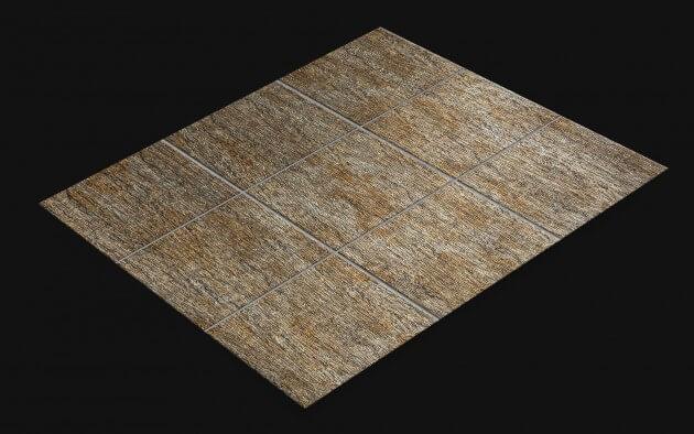 resimdo CO-AB-APZ04 Metal Pine Fliesenfolie Gold Silber für Bodenfliesen, Badezimmerfliesen Fliese