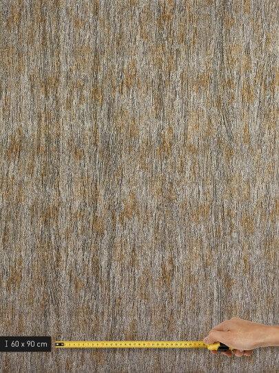 resimdo CO-AB-APZ04 Metal Pine Wandfolie Gold Silber für Wände, Trennwände, Regalwände Platte groß