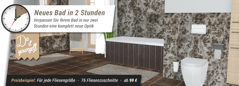 badezimmer klebefliesen design. Black Bedroom Furniture Sets. Home Design Ideas