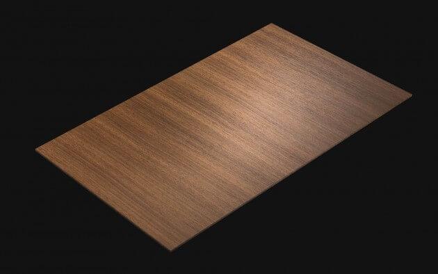 resimdo CO-WO-W206 Middle Brown Walnut Selbstklebende Folie dunkelbraun für Türen, Böden, Küchen Kachel
