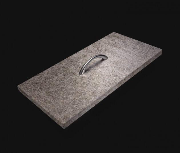 resimdo CO-AB-NS407 Grey Rustic Stone Möbelfolie Grau für Sideboards, Kommoden und Möbel Schublade