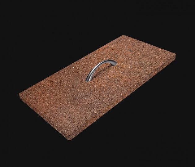 resimdo CO-AB-NS410 Red Iron Oxide Möbelfolie Rostoptik Braun Rot Stein für Möbel in Esszimmer Wohnzimmer Schublade