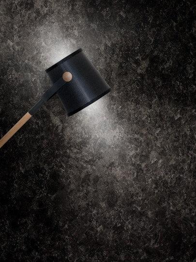 resimdo CO-AB-NS420 Grey Slate Dekofolie Dunkelgrau für Wohnzimmerwände, Böden und Treppen, Beleuchtung
