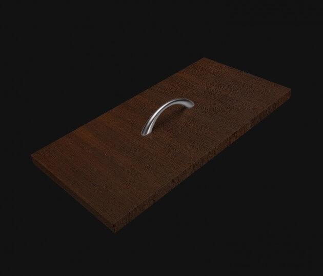 resimdo CO-WO-W207 Dark Walnut Möbelfolie dunkelbraun für Schuhschrank, Kleiderschrank, Schublade