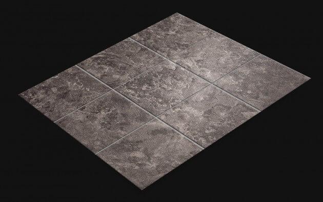 resimdo CO-AB-NS420 Grey Slate Fliesenfolie Dunkelgrau für Toiletten, Küchen Wände und Böden Fliese