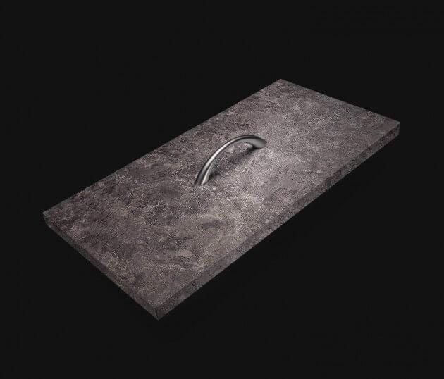 resimdo CO-AB-NS420 Grey Slate Möbelfolie Dunkelgrau für Schränke, Kommoden, Sideboards Schublade