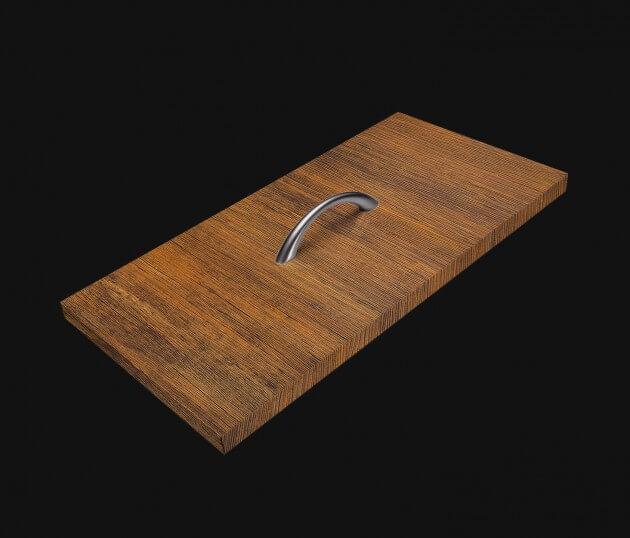 resimdo CO-WO-W274 Bright Antique Wood Möbelfolie braun für Einbauschränke, Tische, Kommoden, Schublade