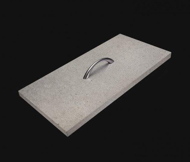 resimdo CO-AB-NS401 Bright Concrete Beton Betonfolie Hellgrau Steinoptik selbstklebend für Schränke Möbel im Wohnzimmer Schublade