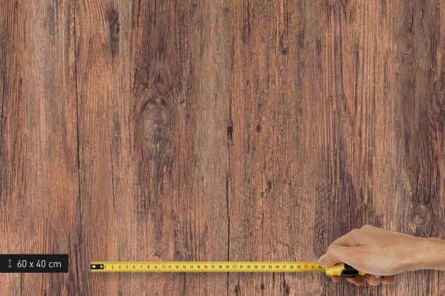 resimdo CO-WO-W912 Rustic Antique Wood  Schrankfolie braun für Einbauschränke, Wandschränke, Platte klein