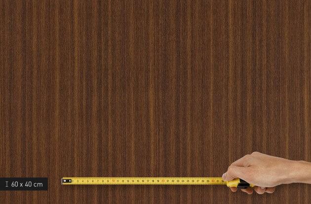 resimdo CO-WO-W260 Dark Brown Walnut Selnstklebefolie dunkelbraun für Böden, Treppen, Stufen und Eingangsbereich Platte klein