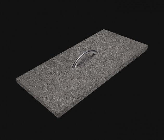 resimdo CO-AB-NS403 Dark Concrete Beton Möbelfolie Betonoptik Dunkelgrau Stein selbstklebend für Möbel in Schlafzimmer, Wohnzimmer Schublade