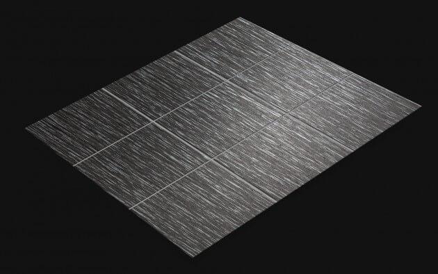 resimdo CO-WO-W556 Silver Castagno Cadduci Fliesenfolie dunkelgrau, silber für Bodenfliesen, Küchenfliesen Fliese