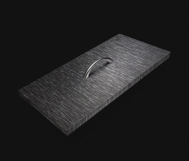 resimdo CO-WO-W556 Silver Castagno Cadduci Möbelfolie dunkelgrau, silber für Kommdoe, Bettgestell, Schlafzimmerschrank Schublade