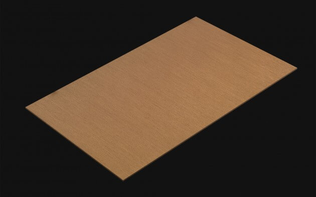 resimdo CO-BA-RM003 Brushed Gold Metallfolie gold für Treppen, Geländer, Türen, Aufzüge Kachel