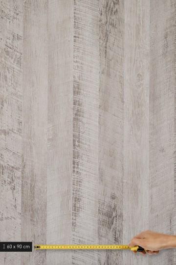 resimdo CO-WO-DW802 Grey Vintage Wood Schrankfolie Vintage Holz Grau, hellgrau für Einbauschrank und Kleiderschrank Platte groß