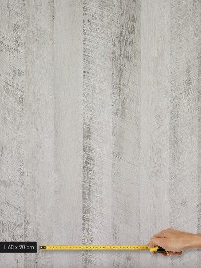 resimdo CO-WO-DW801 White Vintage Wood Wandfolie in Vintage Look für Wände und Schrankwände Platte groß