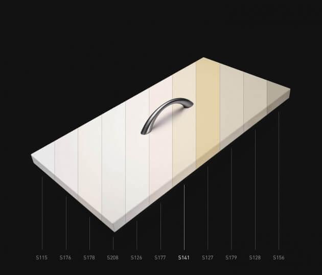 resimdo CO-BA-S141 Rough Milk selbstklebende Klebefolie beige für Möbel wie Sideboard und Kommode Farbskala