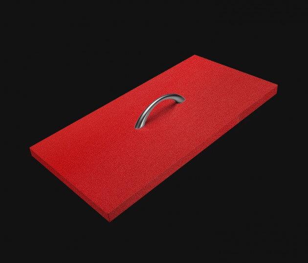 resimdo CO-BA-S147 Rough Lobster Möbelfolie Rot für Küchenfronten und Küchenmöbel Schublade