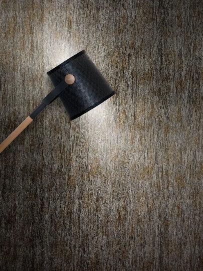 resimdo CO-AB-APZ04 Metal Pine Wandfolie Gold Silber für Wände, Trennwände, Beleuchtung