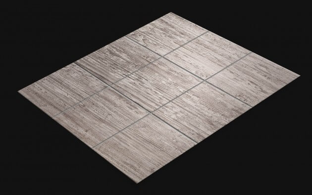 resimdo CO-WO-DW202 Grey Concrete Wood Fliesenfolie Grau für Bodenfliesen und Wandfliesen Fliese